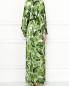 Платье-макси из смешанного шелка с узором Alice+Olivia  –  МодельВерхНиз1