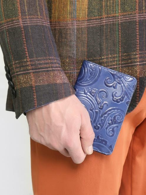 """Обложка для паспорта из кожи с узором """"пейсли"""" - Модель Общий вид"""