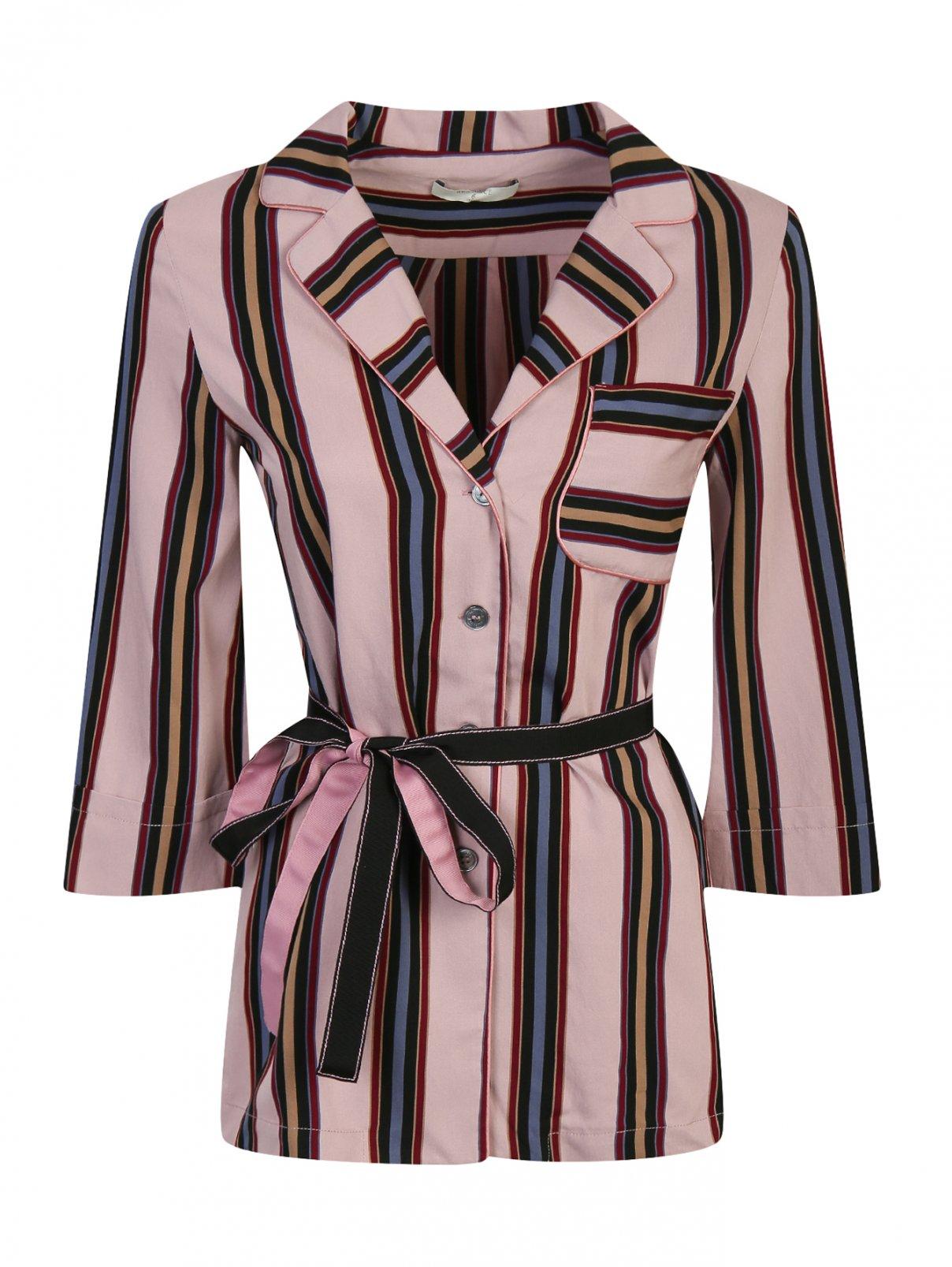 """Блуза с узором """"полоска"""" Beatrice  –  Общий вид  – Цвет:  Розовый"""