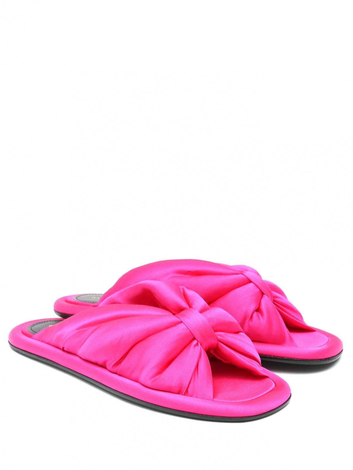 Босоножки со вставками из кожи Balenciaga  –  Общий вид  – Цвет:  Розовый