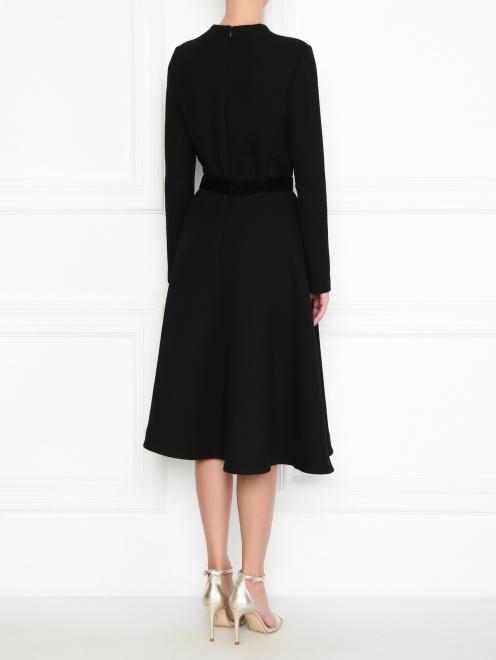 Платье из шерсти под пояс - МодельВерхНиз1
