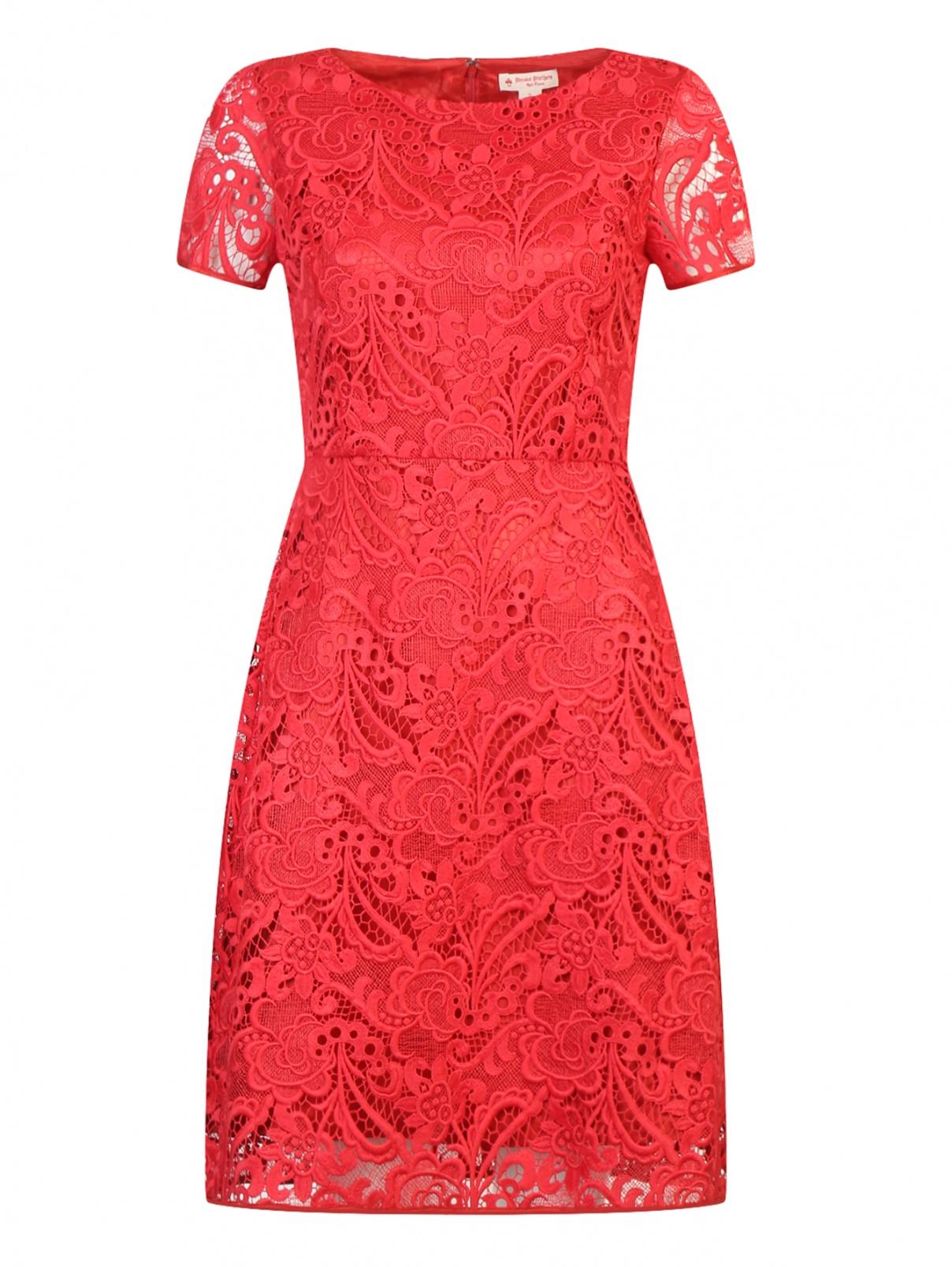Платье-футляр с кружевным узором Brooks Brothers  –  Общий вид