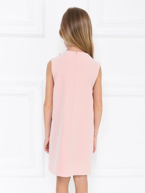 Платье-трапеция декорированное стразами - МодельВерхНиз1