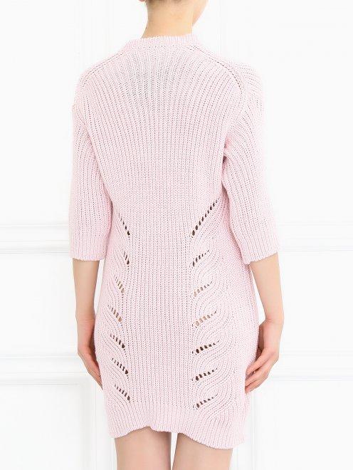 Платье крупной вязки из хлопка и шерсти - Модель Верх-Низ1