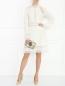 Платье из шерсти с кружевной отделкой Ermanno Scervino  –  МодельОбщийВид