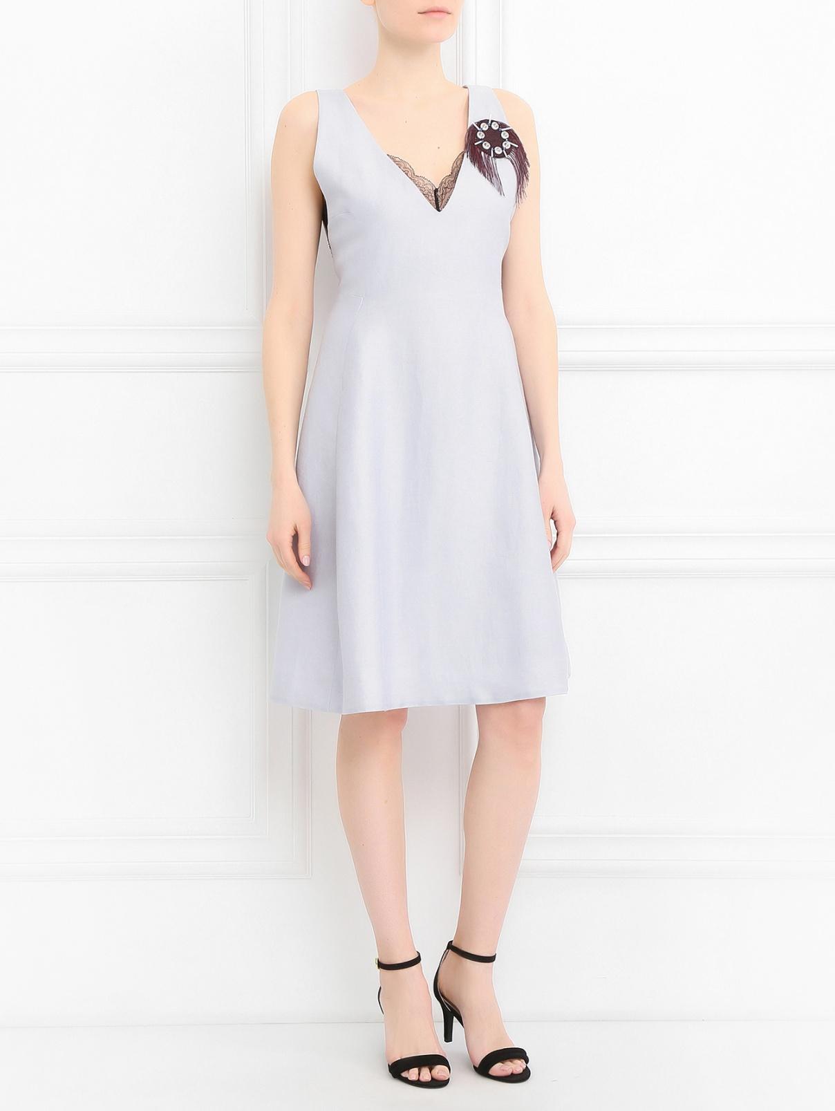 Платье без рукавов с брошью Dorothee Schumacher  –  Модель Общий вид