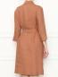 Платье из льна с рукавами 3/4 Marina Rinaldi  –  МодельВерхНиз1