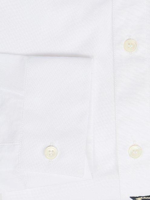 Рубашка из хлопка с узором на груди - Деталь1