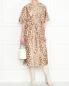Платье из смешанного шелка с узором Rochas  –  МодельОбщийВид