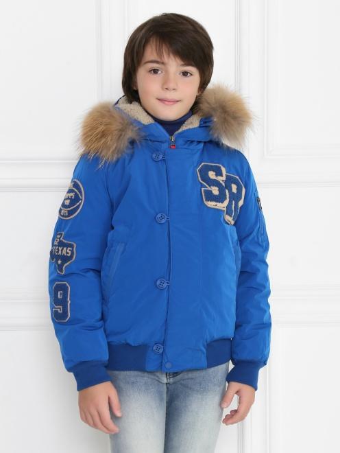 Куртка утепленная с капюшоном - МодельВерхНиз