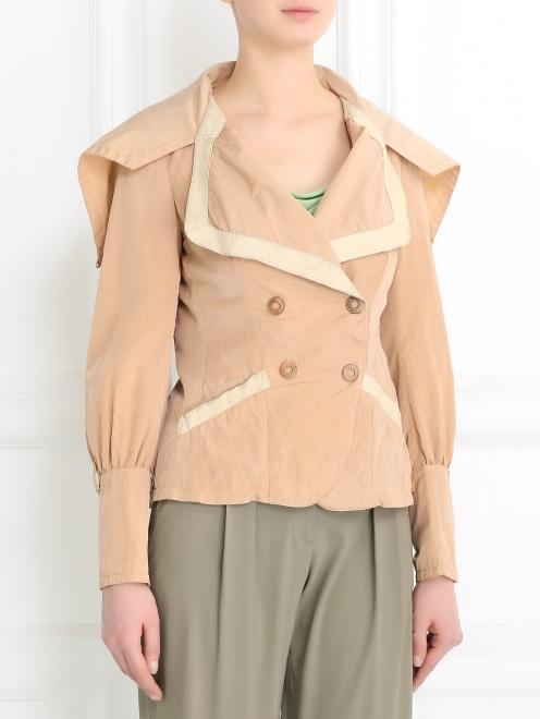 Легкая куртка с карманами  - Модель Верх-Низ