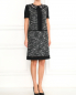Платье-мини из шерсти с короткими рукавами Alberta Ferretti  –  Модель Общий вид