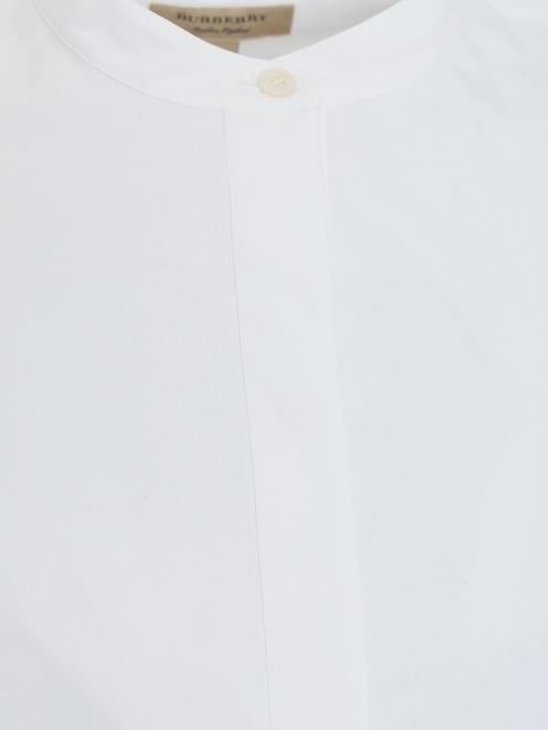 Платье-рубашка из хлопка с вышивкой - Деталь