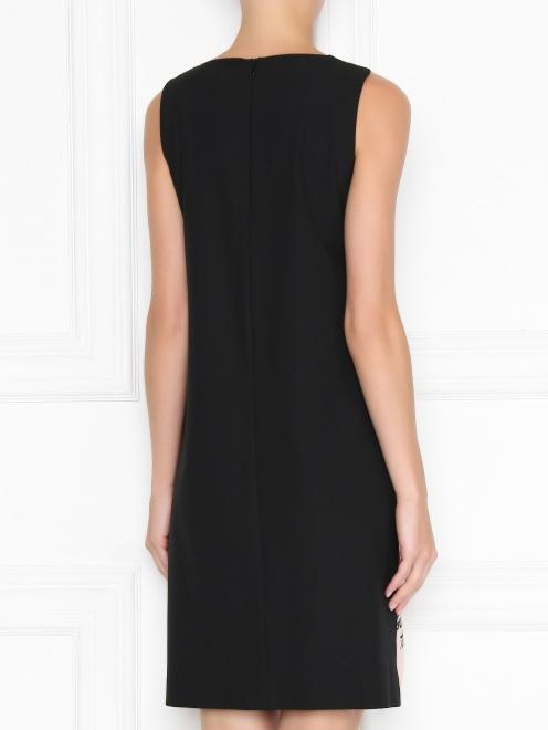 Платье прямого кроя с узором - МодельВерхНиз1