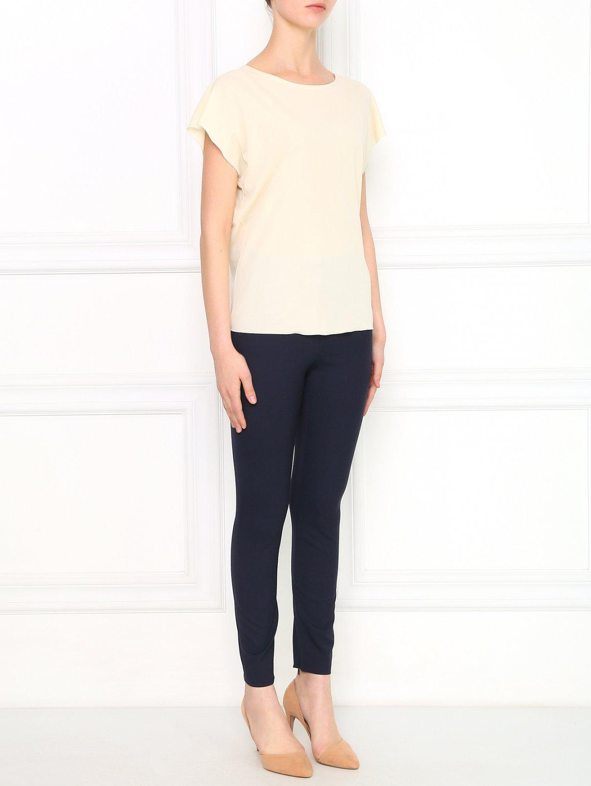 Узкие укороченные брюки из смешанной шерсти Alberta Ferretti  –  Модель Общий вид