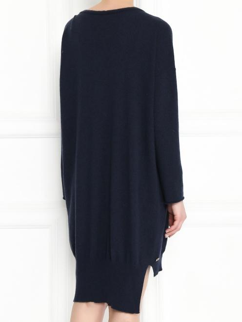 Платье из смешанной шерсти асимметричного кроя - МодельВерхНиз1