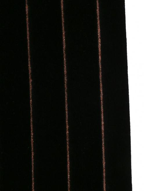 """Трикотажные брюки из хлопка с узором """"полоска"""" - Деталь1"""