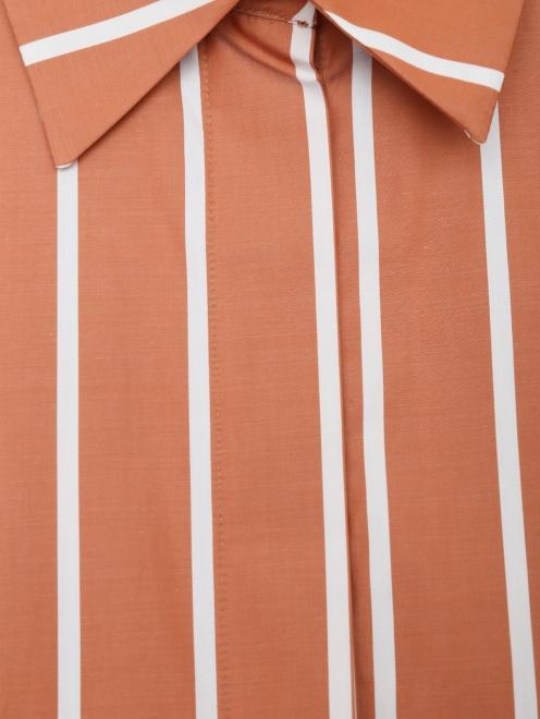 Рубашка из хлопка с кружевной отделкой - Деталь