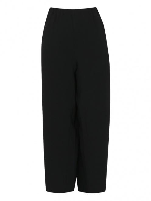 Укороченные брюки на резинке с карманами - Общий вид