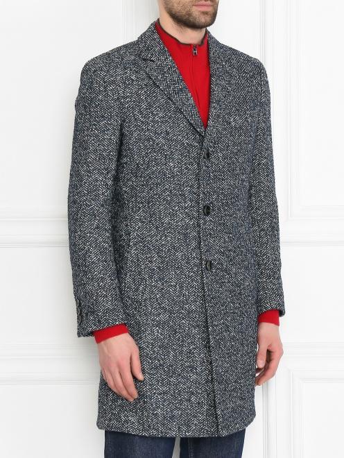 Пальто из смешанной шерсти с узором  - МодельВерхНиз