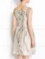 Платье из шелка с цветочным узором Alberta Ferretti  –  Модель Верх-Низ1