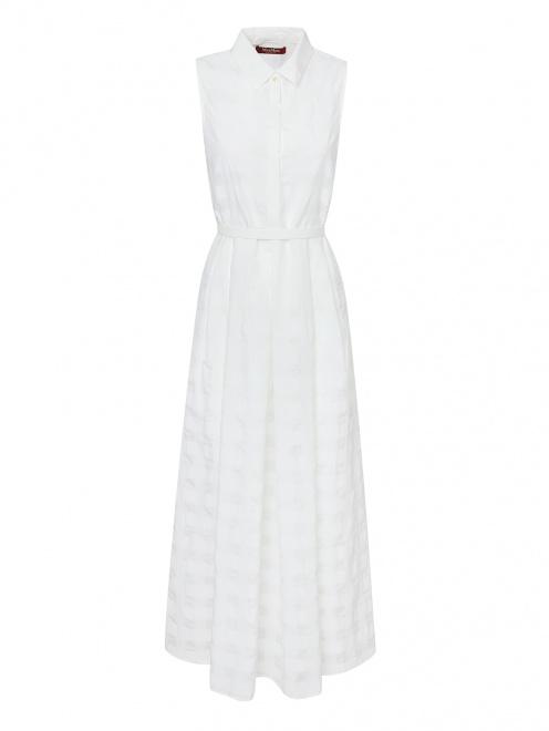 Платье-рубашка из хлопка с шелком - Общий вид