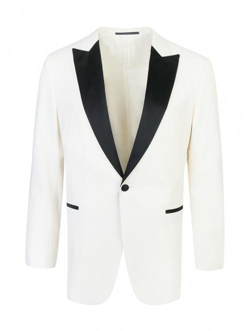 Пиджак с контрастной вставкой - Общий вид