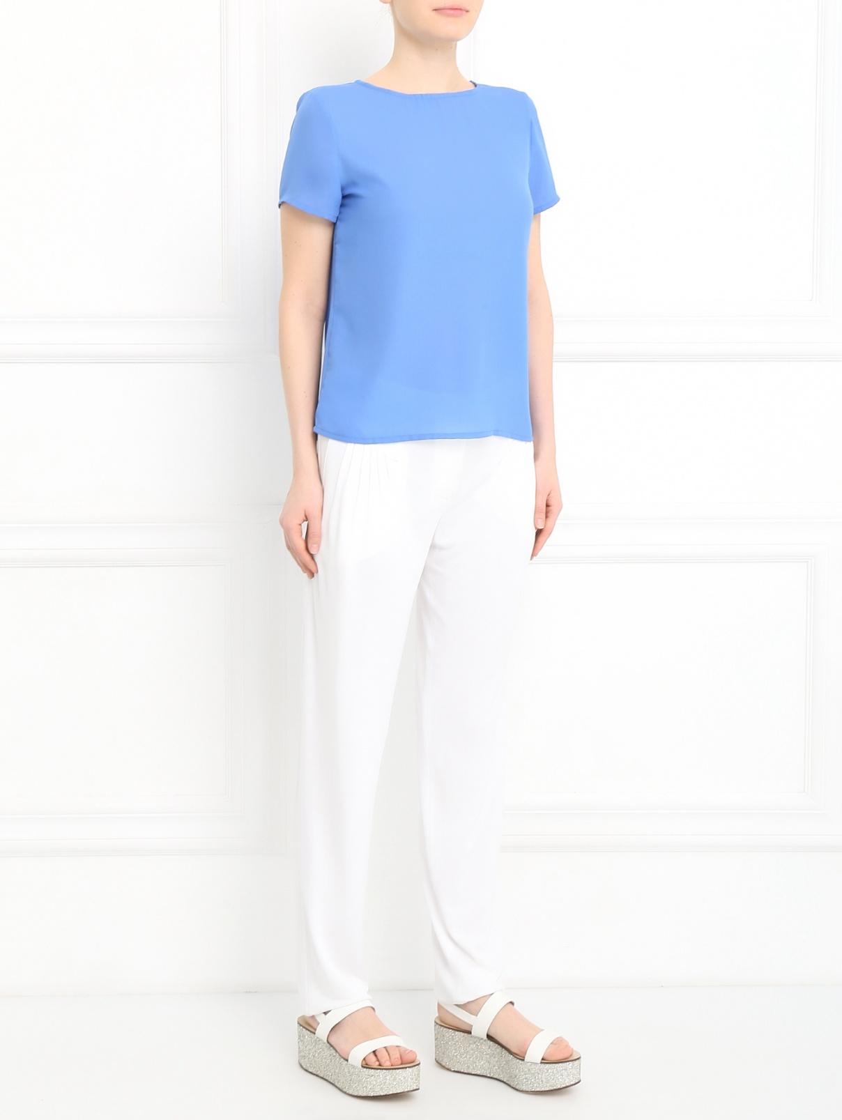 Трикотажные брюки свободного фасона Alberta Ferretti  –  Модель Общий вид
