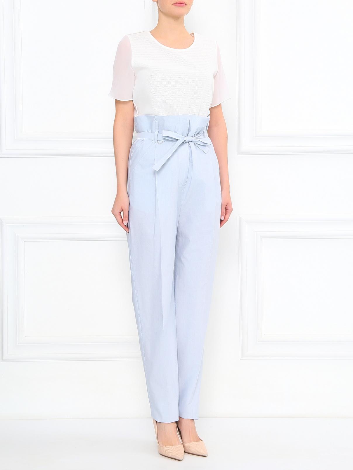 Завышенные брюки из хлопка с боковыми карманами Paul Smith  –  Модель Общий вид
