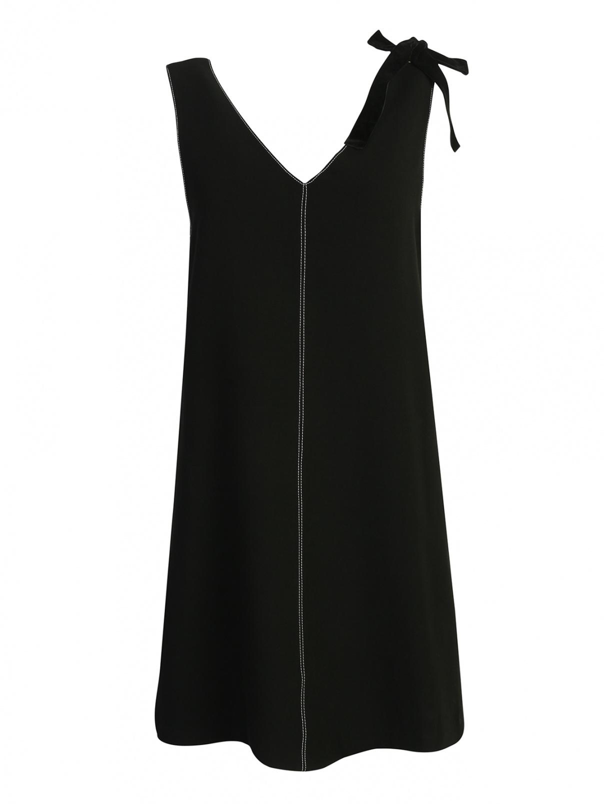 Платье прямого кроя, с контрастной строчкой Suncoo  –  Общий вид