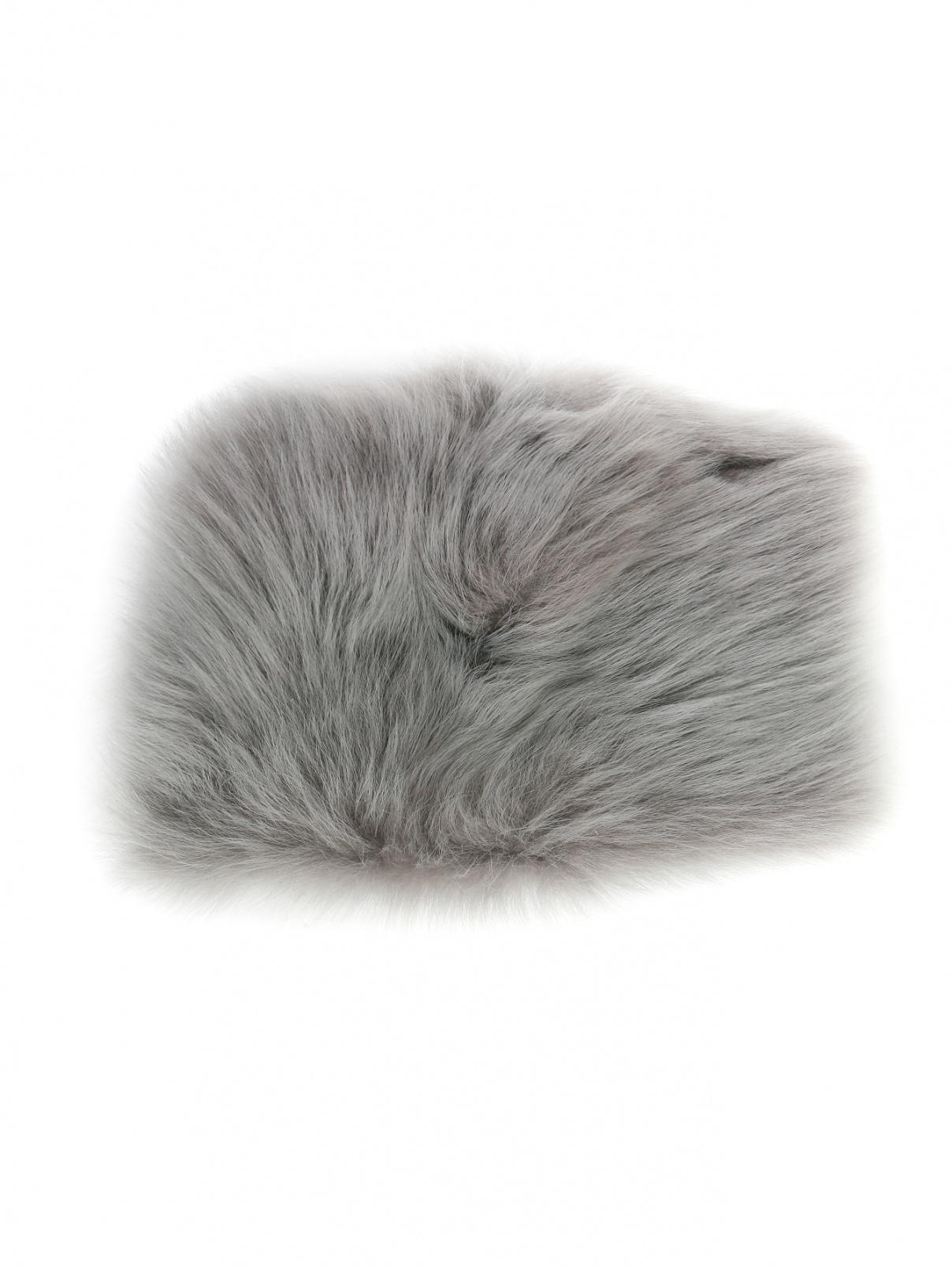 Манжеты из меха Donna Karan  –  Общий вид  – Цвет:  Серый