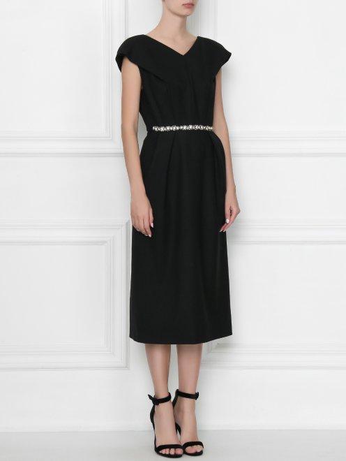 Платье с декором стразами - МодельВерхНиз