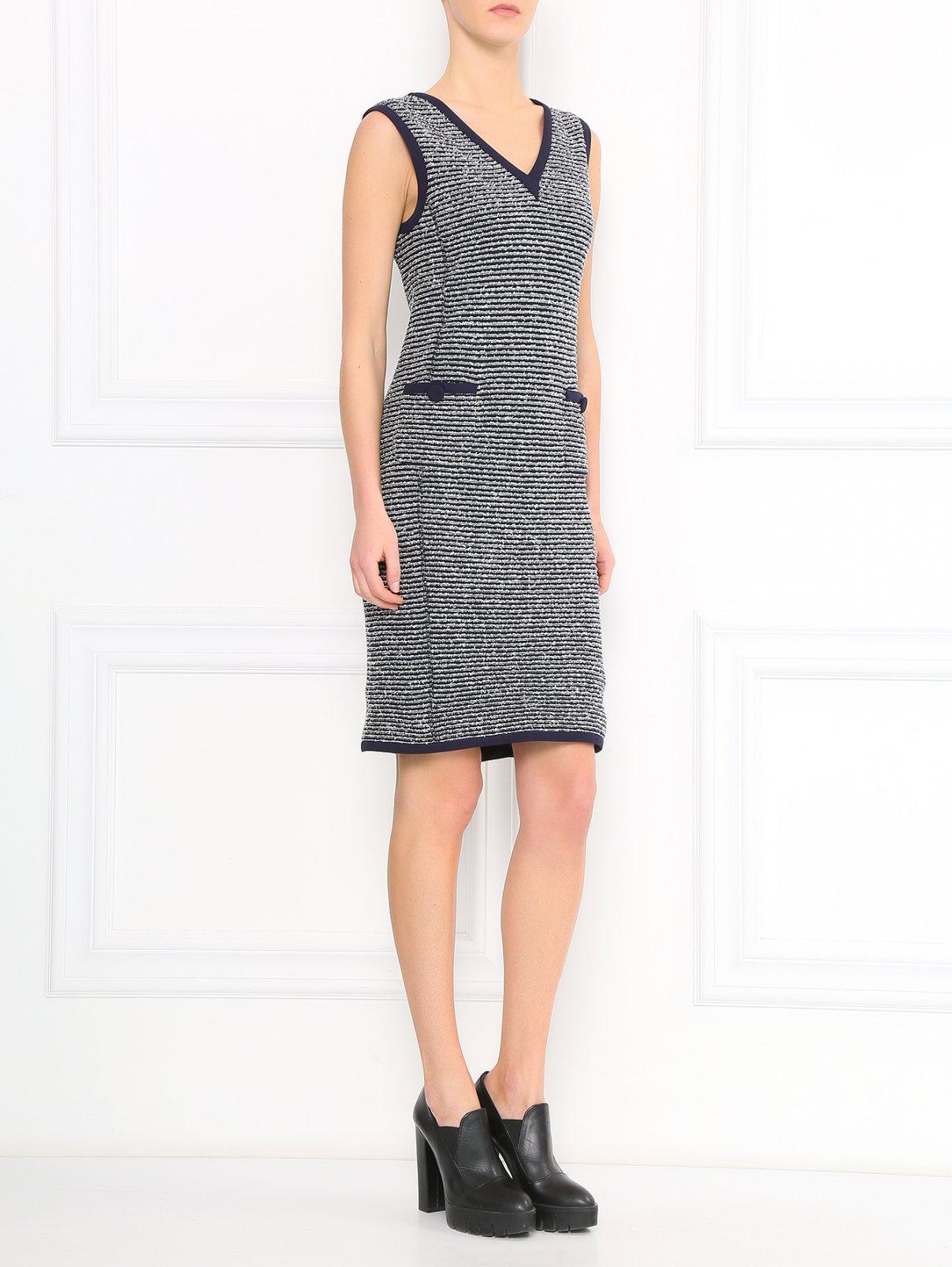 Платье-футляр из смешанного хлопка Moschino  –  Модель Общий вид