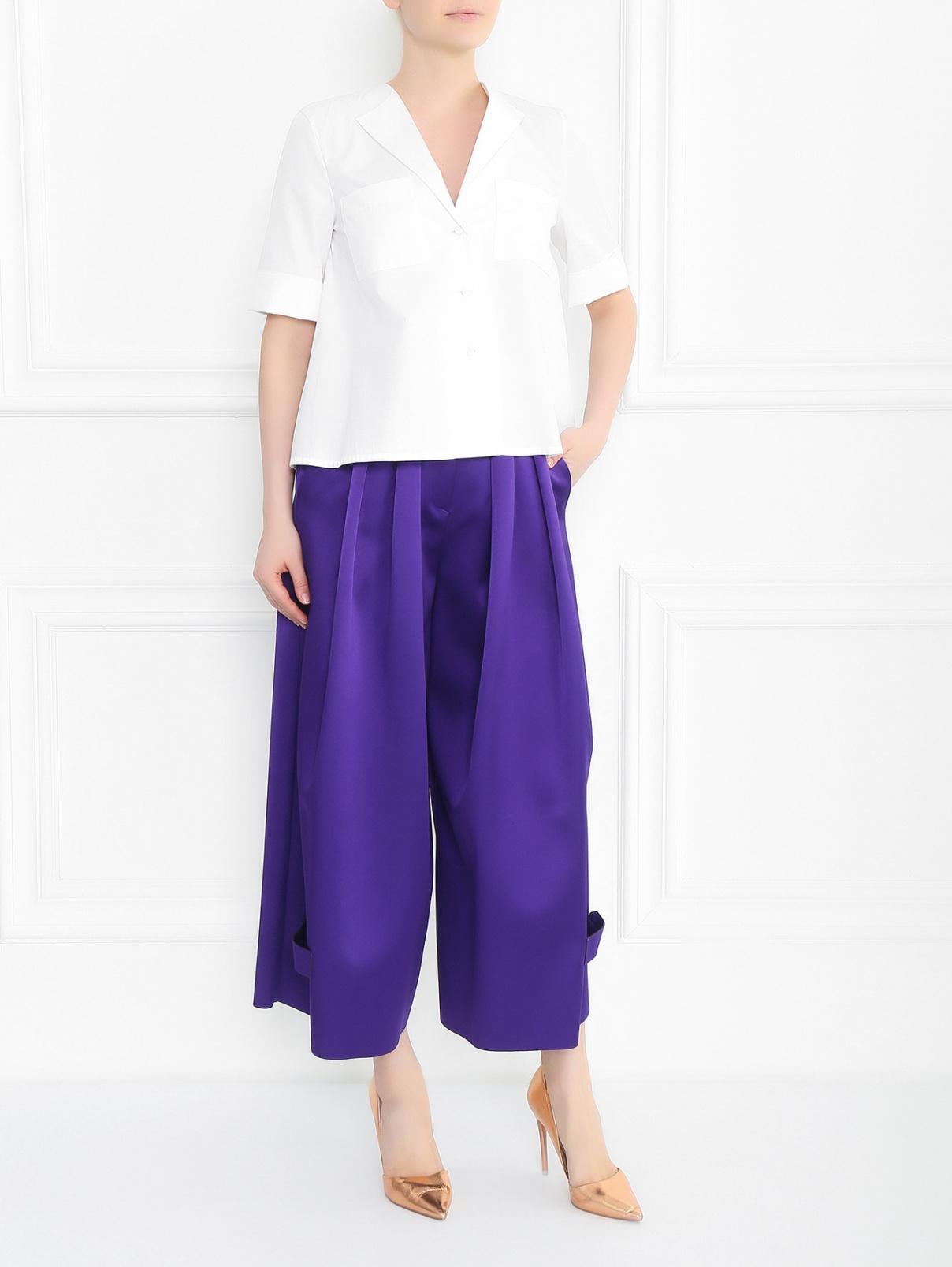 Широкие брюки со складками Emporio Armani  –  Модель Общий вид