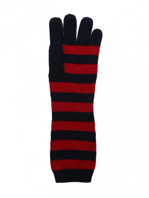 Перчатки трикотажные в полоску - Общий вид
