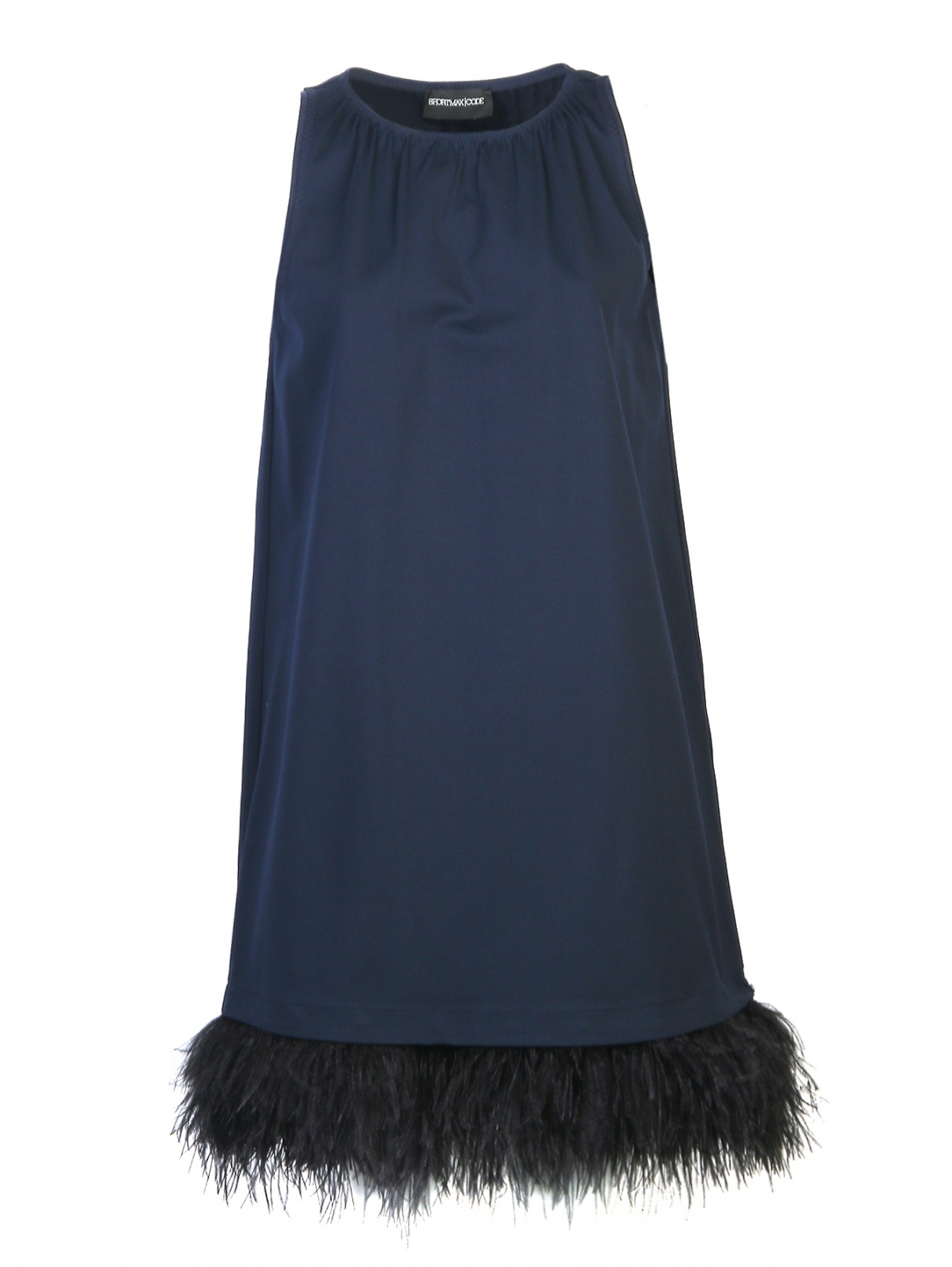 Платье из плотного трикотажа с декором из перьев Sportmax  –  Общий вид