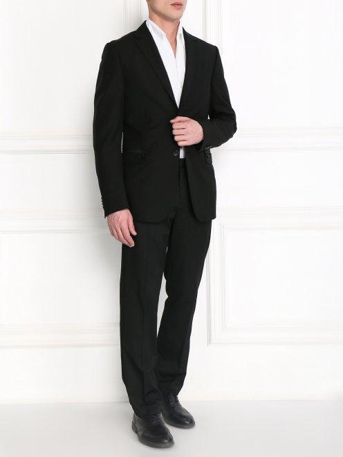 Пиджак однобортный из тонкой шерсти - Модель Общий вид