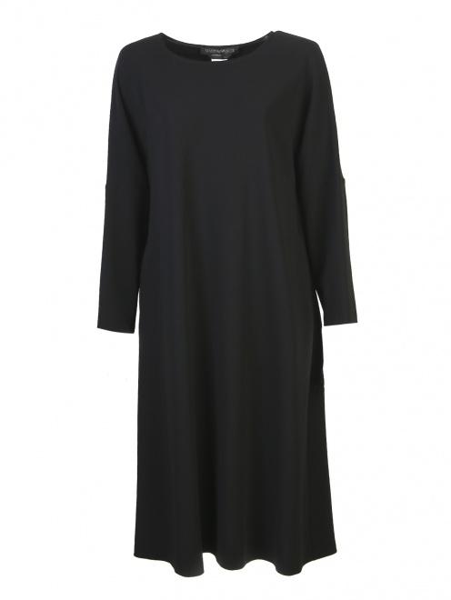 Платье-футляр с длинными рукавами - Общий вид