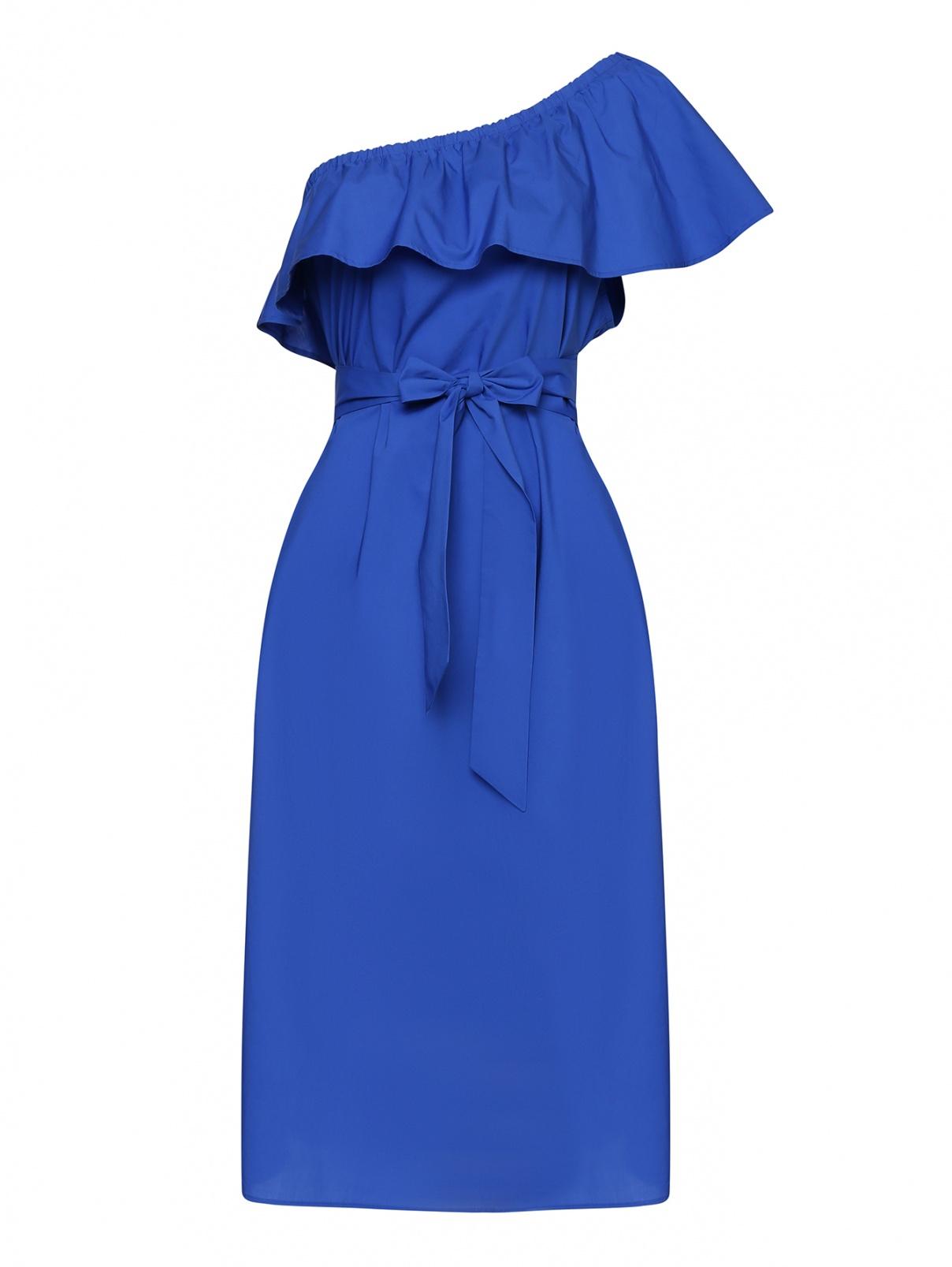 Платье хлопковое, с воланом Marina Rinaldi  –  Общий вид