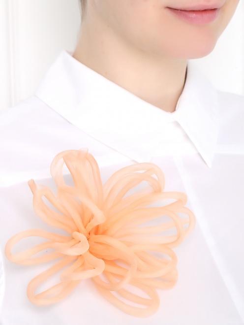 Брошь из текстиля в форме цветка - МодельВерхНиз