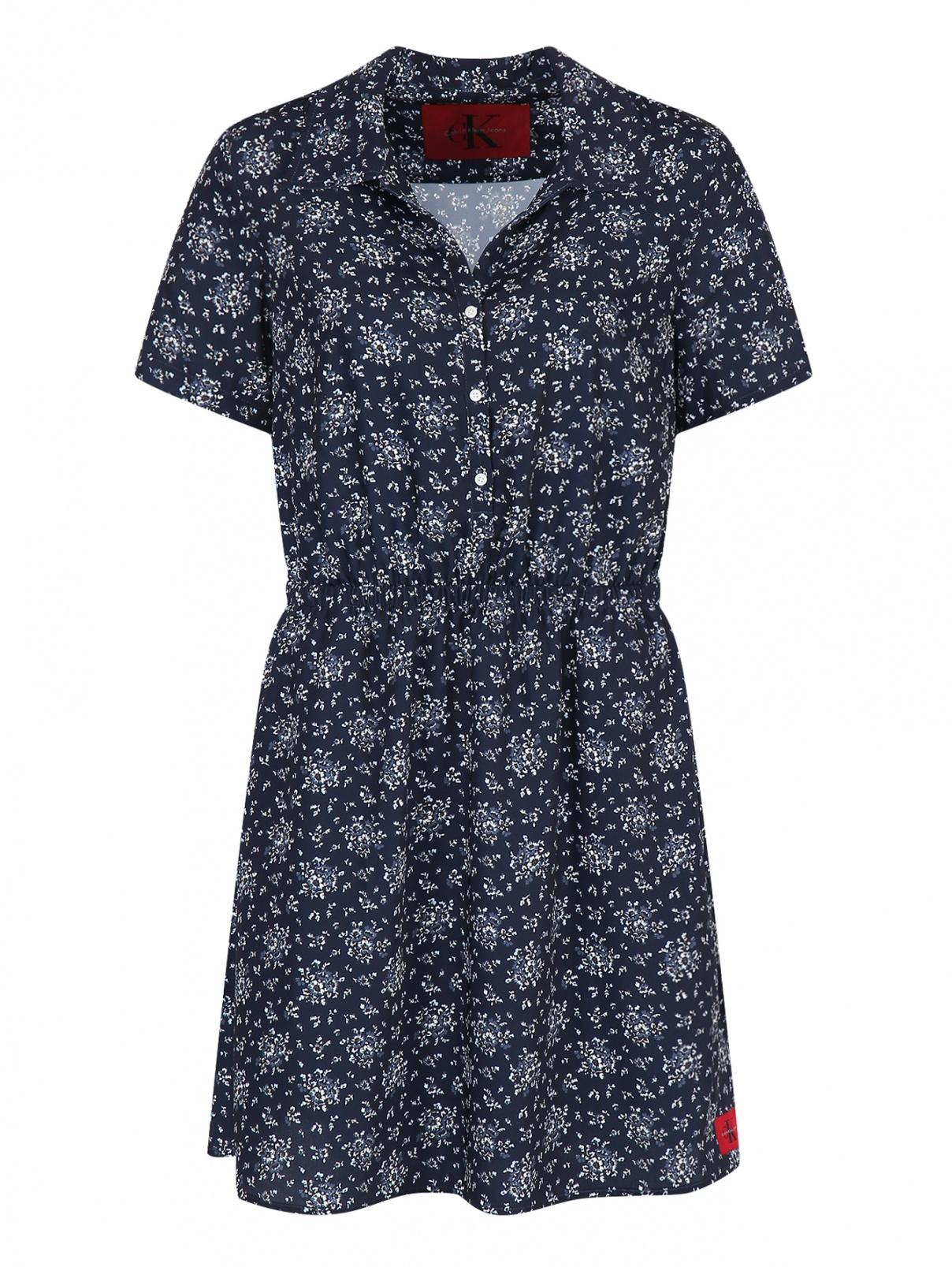 Платье с цветочным узором Calvin Klein Jeans  –  Общий вид