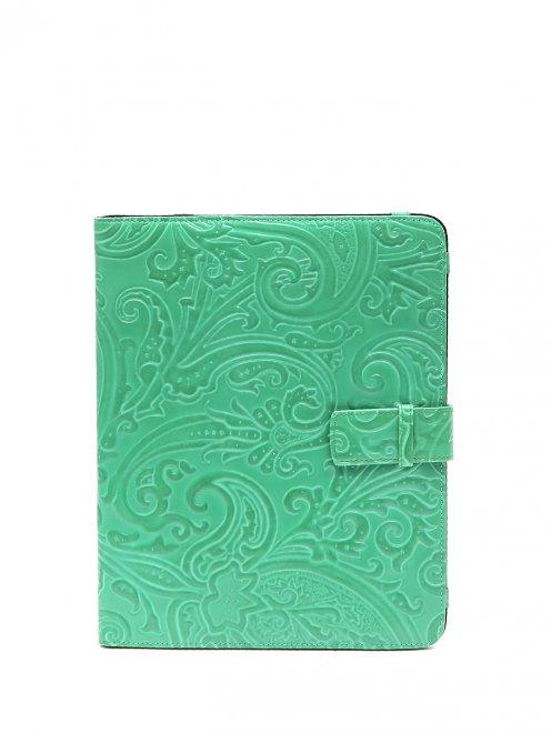Кожаный чехол для iPad с тиснением - Общий вид