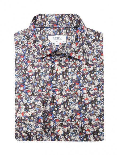 Рубашка из хлопка с узором - Общий вид