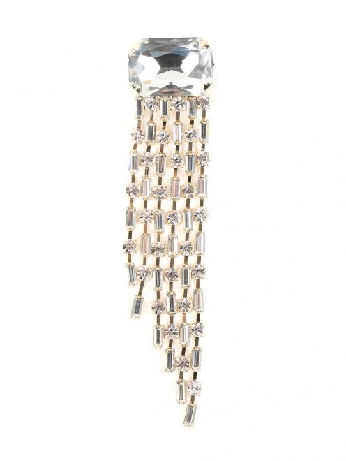 Брошь из металла декорированная кристаллами - Общий вид