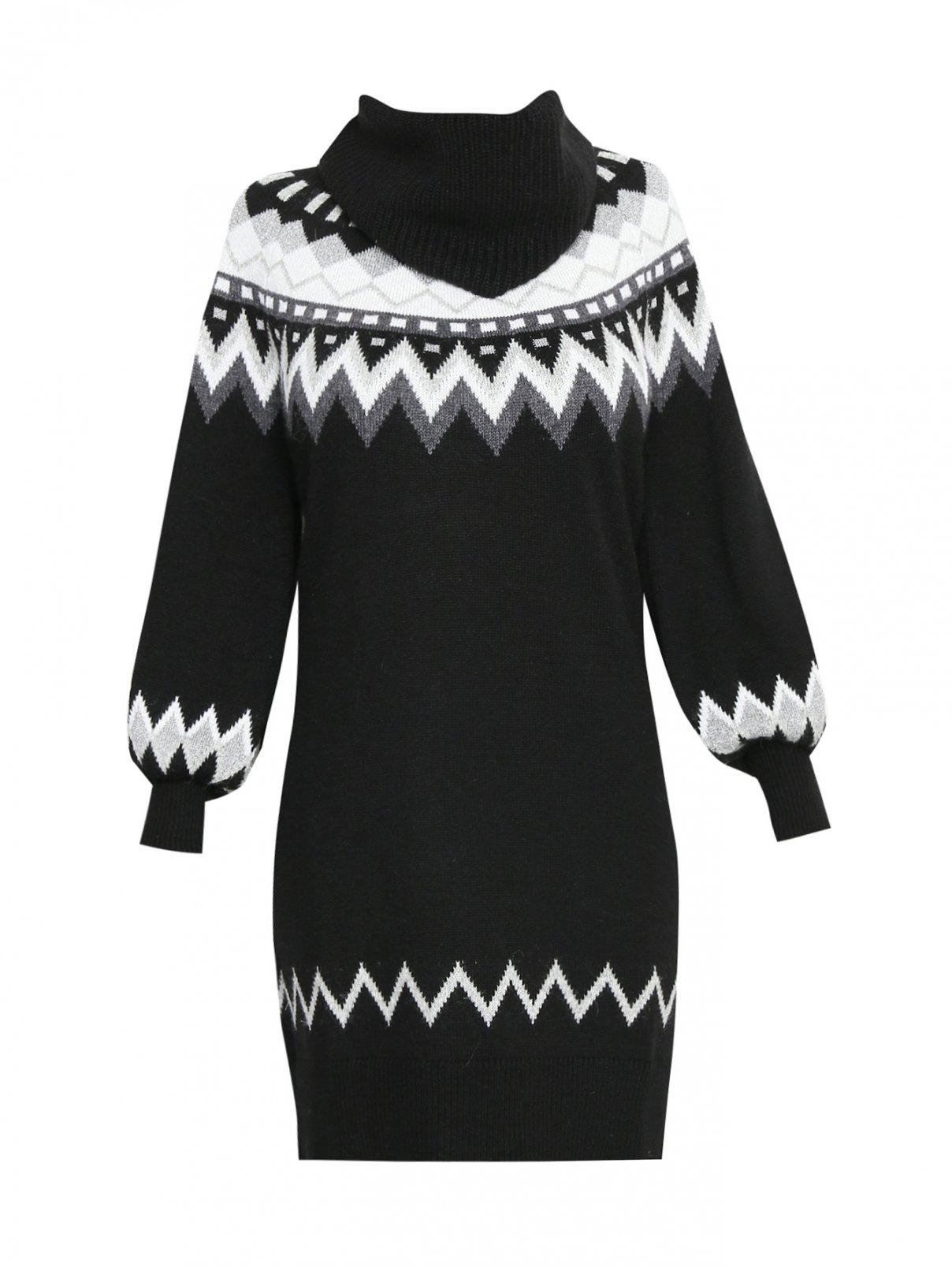 Платье из смесовой шерсти с рисунком Marina Rinaldi  –  Общий вид
