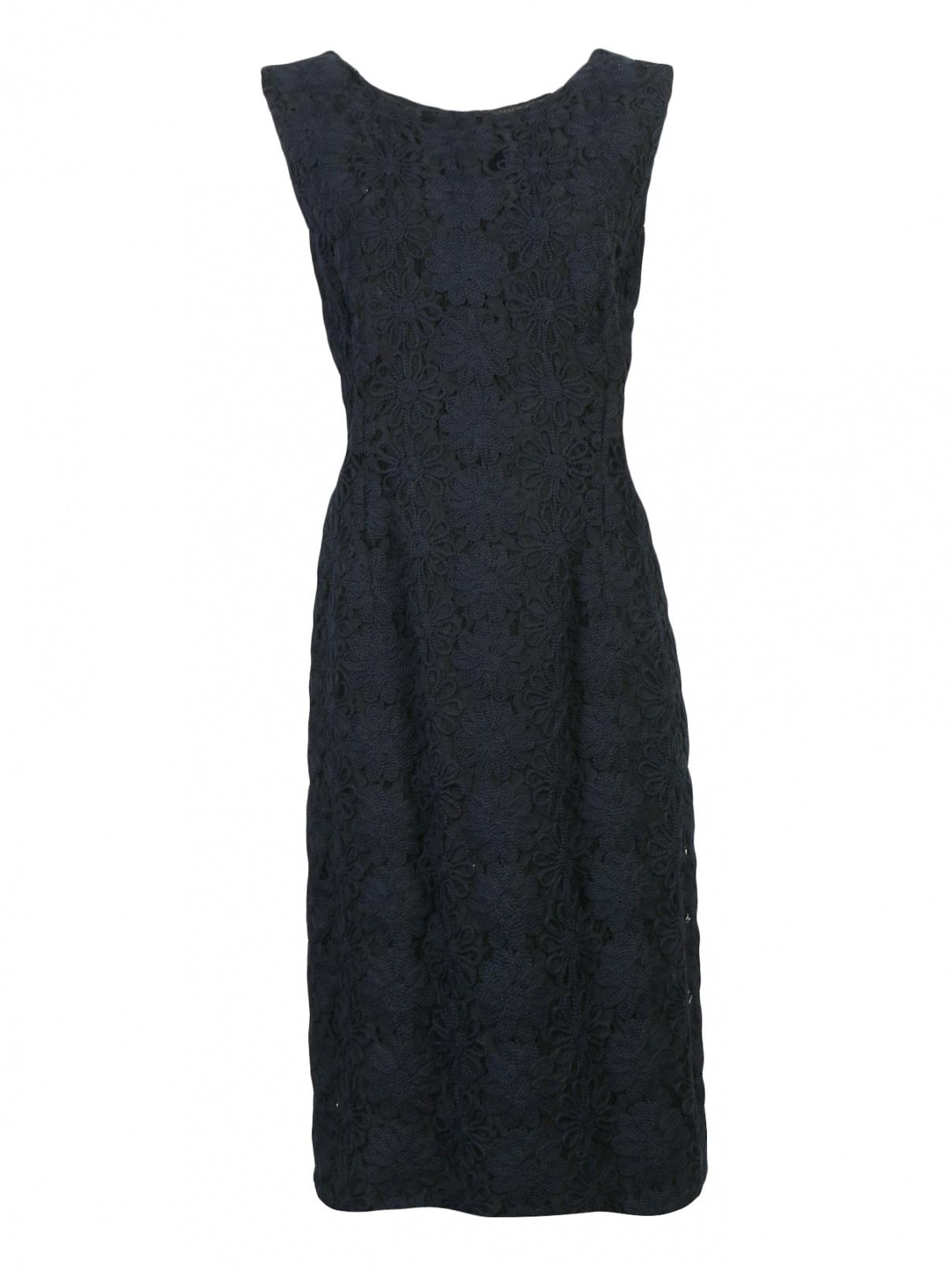 Платье из кружева с декоративной аппликацией Marina Rinaldi  –  Общий вид