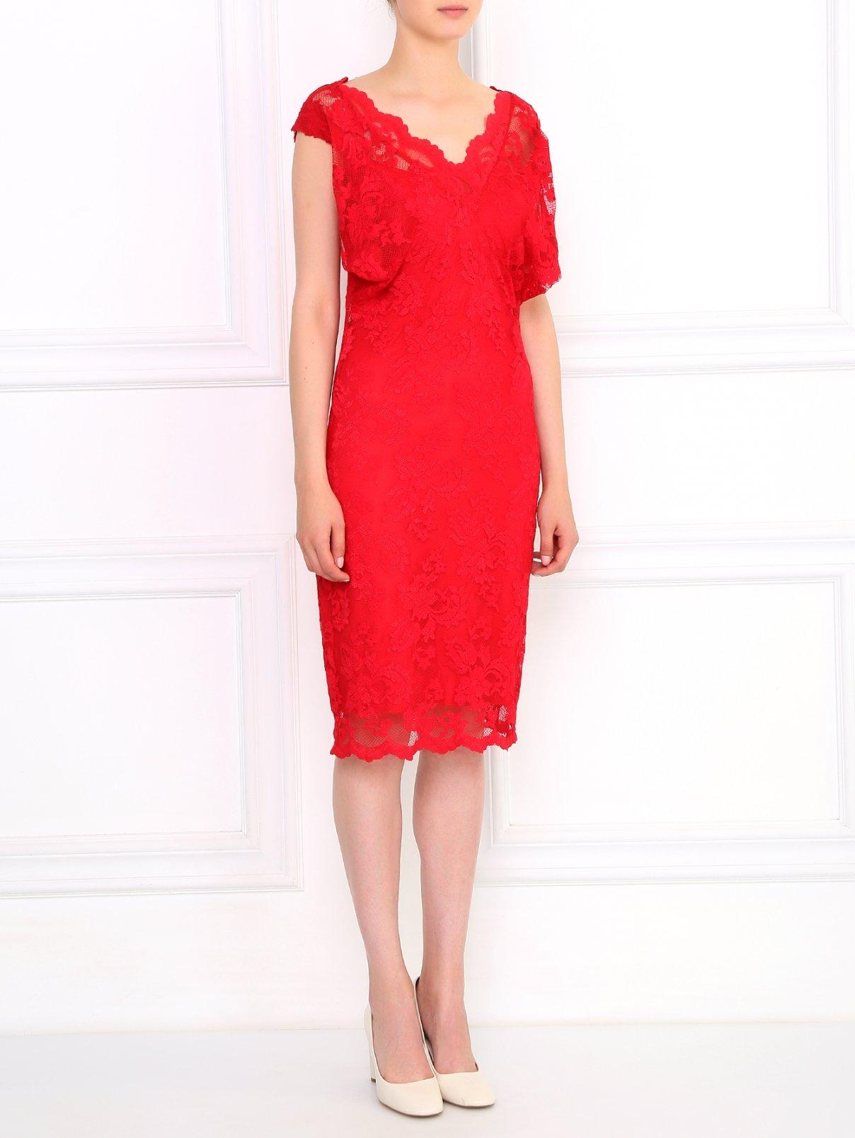 Кружевное платье-мини OLVI`S  –  Модель Общий вид
