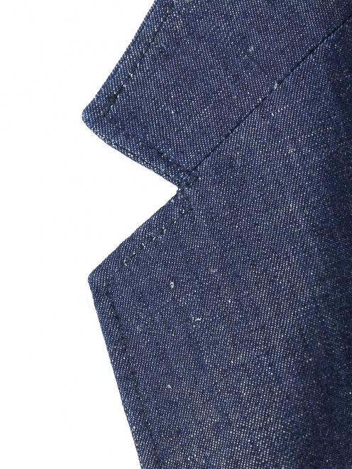 Пиджак однобортный из денима - Деталь1