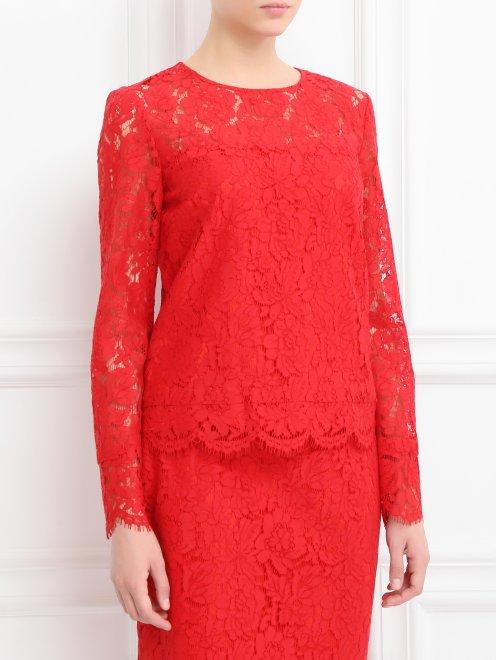 Блуза с кружевным узором - Модель Верх-Низ