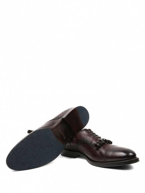 Ботинки из кожи с бахромой  - Обтравка5